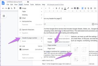 Cómo crear un encabezado y un pie de página diferentes para cada página de Google Docs 11