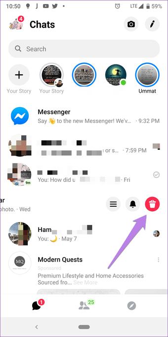 Facebook Messenger Eliminar vs. Archivar: Cuál usar 9