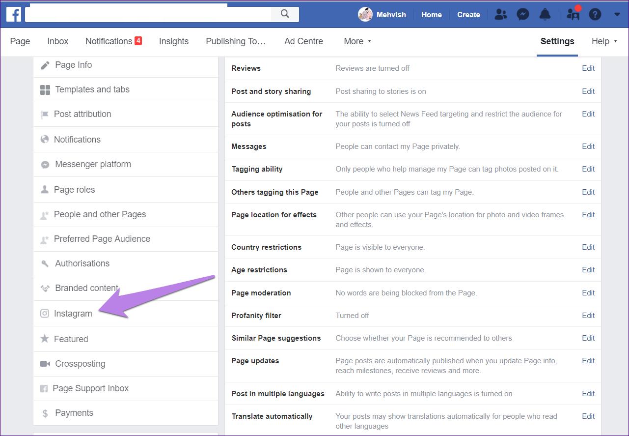 Cómo publicar de Facebook a Instagram al mismo tiempo 4